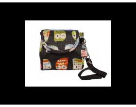 My Bag's Θήκη για Πιπίλες με Κουκουβάγιες Χρώμα Μαύρο, 1τεμ