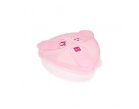 Mam Milk Powder Box Δοχείο Γάλακτος σε Σκόνη για 3 δόσεις Χρώμα Ροζ, 1τμχ