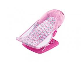 Summer Infant Πτυσσόμενο Μπανάκι Μωρού με Ανάκληση Χρώμα Ροζ, 1τμχ