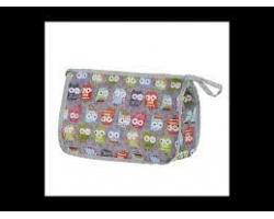 My Bag's Τσάντα-Νεσεσέρ Καλλυντικών Χρώμα Γκρί με Κουκουβάγιες, 1τμχ