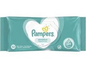 Pampers Sensitive Mωρομάντηλα για το Ευαίσθητο Δερματάκι του Μωρού, 52τμχ