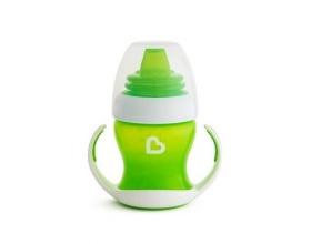 Munckin Gentle First Cup Κύπελο με Λαβές και Μαλακό Στόμιο που δεν Στάζει 4m+ Χρώμα Πράσινο, 118ml.