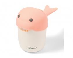 Babyono Κύπελλο Λουσίματος Με Σχήμα Φάλαινα Χρώμα Ρόζ, 1τμχ