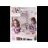 Baby To Love Αδιάβροχη Σαλιάρα με Μανίκια 5-20m Χρώμα Ροζ -Λευκό, 1τμχ.
