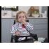 Baby To Love Αδιάβροχη Σαλιάρα με Μανίκια 5-20m Χρώμα Μπλέ-Λευκό, 1τμχ.