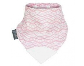 Cheeky Chompers Neckerchew Rosy Σαλιάρα-μασητικό Χρώμα Λευκό-Ροζ, 1τμχ.