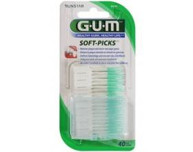 GUM 632 ΜΕΣΟΔΟΝΤΙΑ SOFT-PICKS REGULAR,Ένα πρωτοποριακό μεσοδόντιο βουρτσάκι μιας χρήσης κατασκευασμένο πλήρως από μαλακό καουτσούκ, 40ΤΜΧ