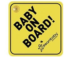 Dreambaby Κρεμαστό Σήμα Baby On Board με Βεντούζα, 1τμχ