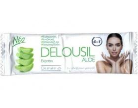 SJA Pharm Delousil Aloe Express De Make Up Μαντηλάκια Καθαρισμού & Ντεμακιγιάζ, 12 τεμάχια