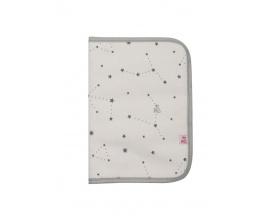 MY BAG'S, Θήκη για Βιβλιάριο Υγείας Χρώμα Λευκό με Αστεράκια, 1τμχ