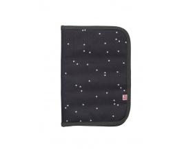 MY BAG'S, Θήκη για Βιβλιάριο Υγείας Χρώμα Μαύρο με Αστεράκια, 1τμχ