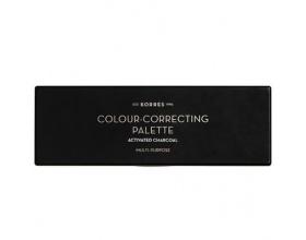 KORRES Colour Correcting Palette Activated Charcoal Multi-Purpose Παλέτα Μακιγιάζ Προσώπου,5 αποχρώσεις που φωτίζει, διορθώνει και εξομαλύνει κάθε ατέλεια του δέρματος 5.5gr