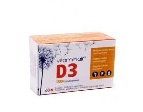 Medicair Vitaminair Air D3 1200iu , Συμπλήρωμα Διατροφής  για δυνατό ανοσοποιητικό, γερά οστά και δόντια 60 δισκία
