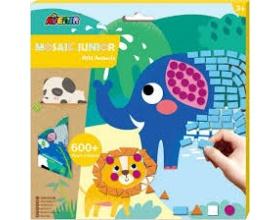 Avenir Mosaic Junior Wild Animals Δημιουργικό Παιχνίδι με Κολάζ, 1τμχ