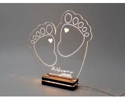 """Gift & Design, Led Φωτιστικό """"Βρεφικές Πατουσίτσες"""", 1τμχ"""