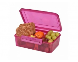 Pollar Gear Δοχείο Φαγητού με Χώρισμα, Χρώμα Ροζ, 1.5lt