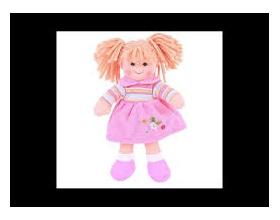 Big Jigs Toys, Jenny Πάνινη Κούκλα 25cm, 1τμχ