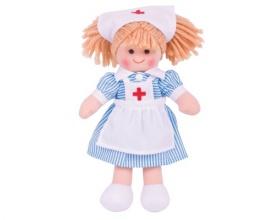 Big Jigs Toys, Nancy Πάνινη Κούκλα 28cm, 1τμχ