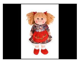Big Jigs Toys, Mandie Πάνινη Κούκλα 35cm 1τμχ