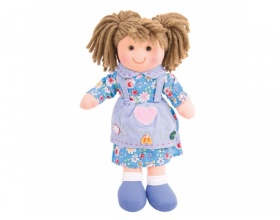 Big Jigs Toys, Grace Πάνινη Κούκλα 28cm, 1τμχ