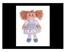 Big Jigs Toys, Christine Πάνινη Κούκλα 34cm 1τμχ