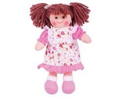 Big Jigs Toys, Amy Πάνινη Κούκλα 28cm, 1τμχ