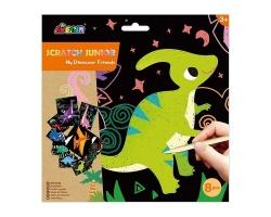 Avenir Εικόνες Ζωγραφικής Scratch +3Y My Dinosaur Friends, 8pcs