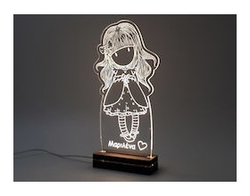 "Gift & Design Led Φωτιστικό ""GORGEUS GIRL"", 1τμχ"