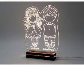 """Gift & Design Led Φωτιστικό """"Girl & Boy"""", 1τμχ"""