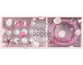 Invisibobble Sparks Flying Duo Gift Box, Waver Crystal Clear 3 Τεμάχια & Slim Glitter 3 Τεμάχια