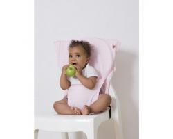 Baby To Love Kάθισμα Φαγητού που Χωράει στην Τσάντα, 6-36m, 15kg Max Χρώμα Ροζ-Λευκό Αστέρια, 1τμχ.