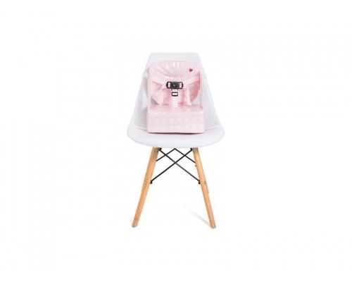 Baby To Love Κάθισμα Φαγητού Αδιάβροχο Χρώμα Ρόζ με Αστέρια, 15kg Max, 6-36m, 1τμχ.