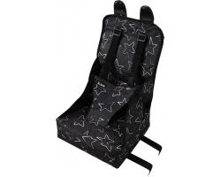 Minene Booster Φορητό Καθισματάκι Φαγητού, Χρώμα Μαυρο με Αστερια,  1τμχ