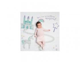 "Lulujo Θεματική Μουσελίνα για να Αποθανατήσετε τα Στάδια Ανάπτυξης του Μωρού σας με θέμα ""Something Magical"", 1τμχ"