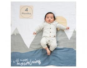 "Lulujo Θεματική Μουσελίνα για να Αποθανατήσετε τα Στάδια Ανάπτυξης του Μωρού σας με θεμα ""I Will Move Mountains"", 1τμχ"