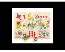 Big Jigs Toys Παζλ Αριθμών 2, 12m+, 1 τμχ