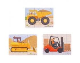 Big Jigs Toys, Πάζλ Με Μεγάλα Οχήματα 2+ Χρονών, 1τμχ