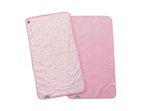 Baby To Love Αδιάβροχο σετ Αλλαγής Πάνας Χρώμα Ρόζ-Λευκό 0m+, 2τμχ