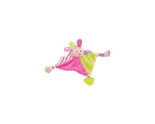 Big Jigs Toys, Καταπραϋντικό πανάκι λαγουδάκι ρόζ για παιδιά από 0m+, 1τμχ