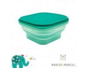 Marcus & Marcus, Πτυσσόμενο Φαγητοδοχείο Σιλικόνης με Καπάκι Χρώμα Πράσινο, 1τμχ