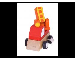 Big Jigs Toys, Κουρδιστό Όχημα Χρώμα Kόκκινο,1τμχ.