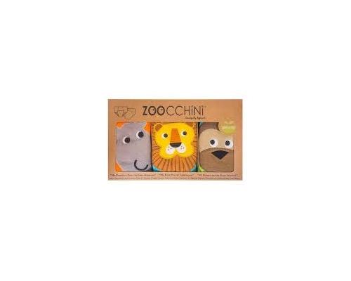 Zoocchini, Εκπαιδευτικά Βρακάκια απο Οργανικό Βαμβάκι Safari Friends, 3τμχ