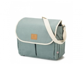 My Bag's Happy Family Αδιάβροχη Τσάντα Καροτσιου με Γάτζους για το Καρότσι και Στρωματάκι αλλαγής Πάνας Χρώμα Mint, 1τμχ