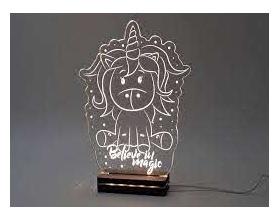 "Gift & Design Led Φωτιστικό ""Μονόκερος"", 1τμχ"