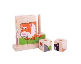 Big Jigs Toys Πάζλ με Κύβους Κατοικίδια, 1τμχ