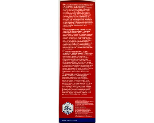 APIVITA BEE SUN SAFE Hydra Sensitive Face cream SPF 50 Καταπραϋντικη Κρέμα προσώπου για ευαίσθητες επιδερμίδες με χαμομήλι & πρόπολη ελαφριά υφή 50ml