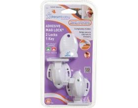 Dreambaby Μαγνητικές Ασφάλειες Συρταριών και Ντουλαπιών 2+1 κλειδί, 2τμχ