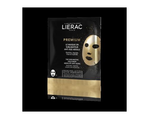 LIERAC Premium Le Masque or Anti-Age Gold Mask Χρυσή Μάσκα Απόλυτης Αντιγήρανσης Δίνει λάμψη, αναζωογονεί, λειαίνει και ενυδατώνει 20ml