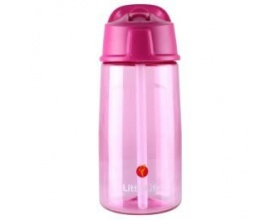 Littlelife Παγουράκι με Σκληρό Καλαμάκι με Προστασία από τα Μικρόβια Χρώμα Ρόζ, 550ml
