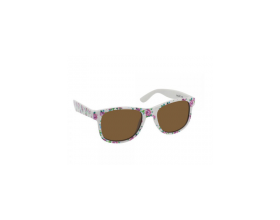 Vitorgan Eyelead Polarized Παιδικά γυαλιά Ηλίου Χρώμα Λεύκο με Λουλούδια, 1τμχ
